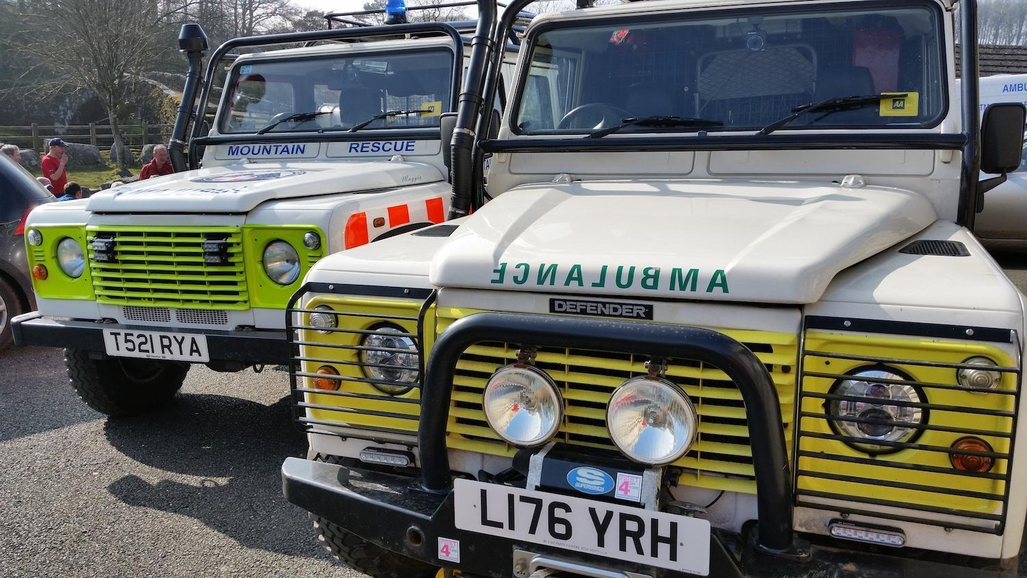 Dartmoor Search and Rescue Ashburton 2 Landrover ambulances. DART52 and DART62
