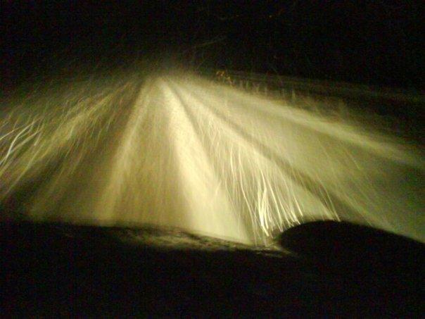Travelling the A38 over Haldon Hill in a blizzard and thick snow was quite an experience