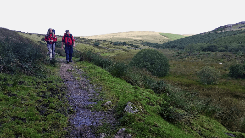 Team members returning from callout for missing walkers on Dartmoor