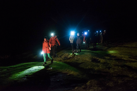 Supporters enjoying the Dartmoor in the Dark event run by Dartmoor Search and Rescue Ashburton