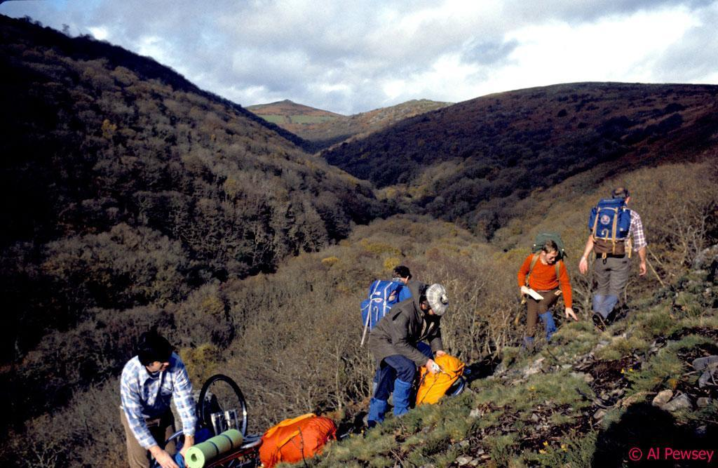 Dartmoor Rescue volunteers in the Upper Dart Valley in the 1980s