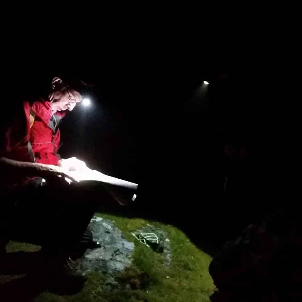 Team member Craig Scollick navigating during a callout