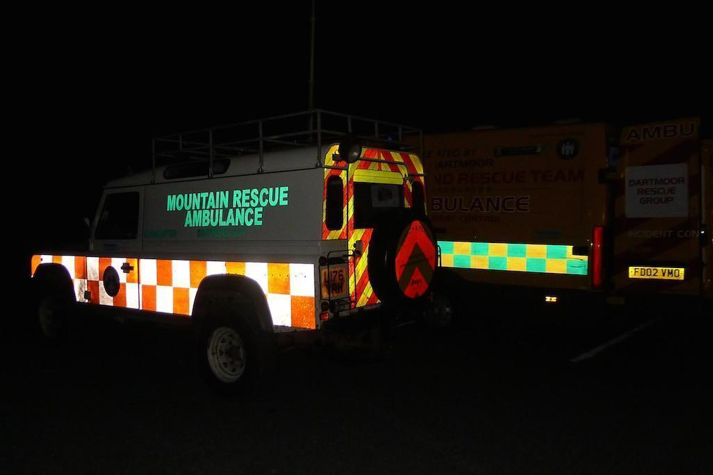 Dartmoor Rescue Ashburton's Mountain Rescue Landrover DART52 at Teignmouth Golf Course, Devon