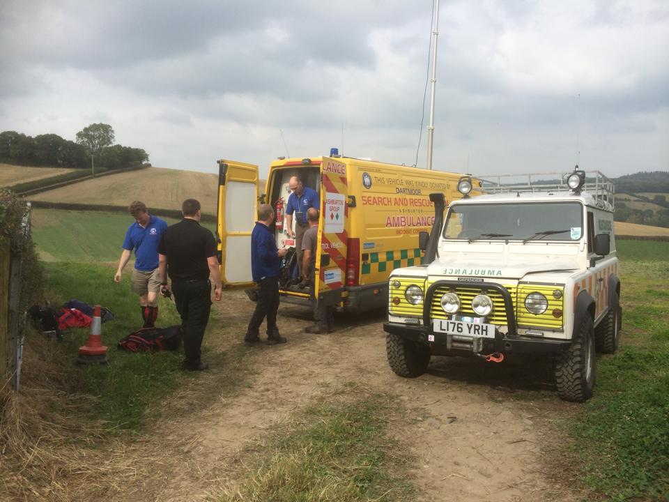 Dartmoor Search and Rescue Ashburton team members involved in the Teign Valley search