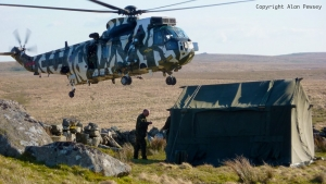 Merlin helicopter at Ten Tors