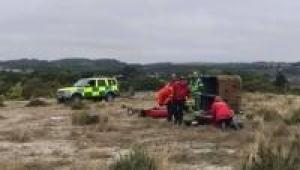 Volunteers and emergency services at Devon major incident