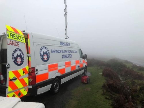 Dog walker lost in thick fog