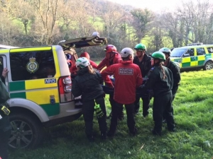 Climber injured in fall at Devon climbing rock