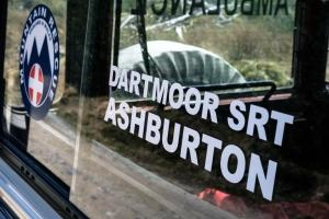 Dartmoor Search and Rescue Ashburton landrover, affiliated to Mountain Rescue England and Wales