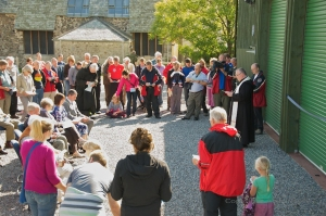 The Buckfast Abbot blessing the new Rescue Centre